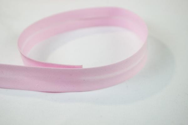 Elastisches Schrägband vorgefalzt rosa Ökotex 100