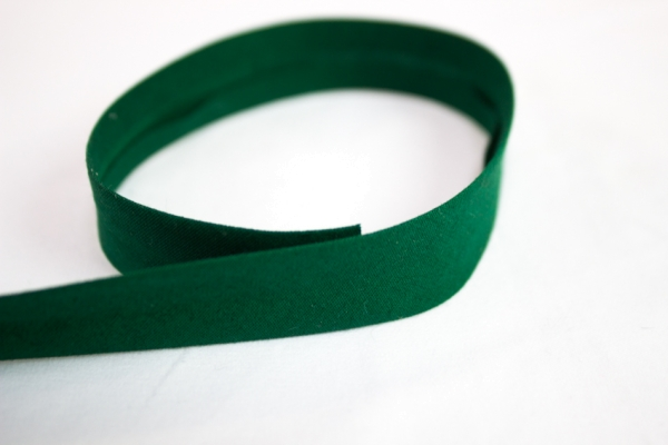 Elastisches Schrägband vorgefalzt dunkelgrün Ökotex 100