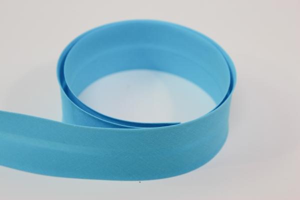 Schrägband 2cm oder 4cm breit vorgefalzt aqua Ökotex 100