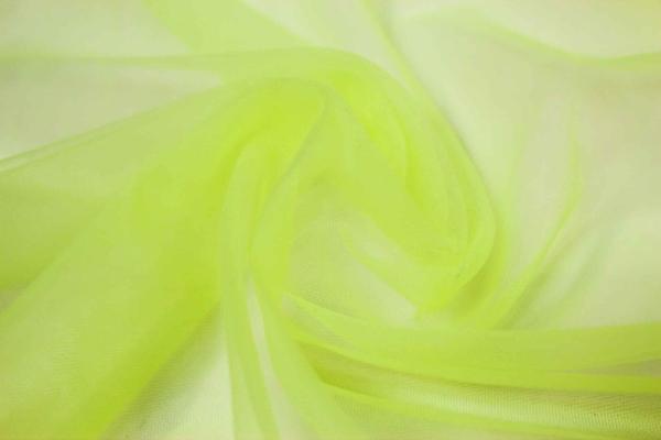 Softtüll Schleiertüll neon-gelb elastisch Ökotex 100