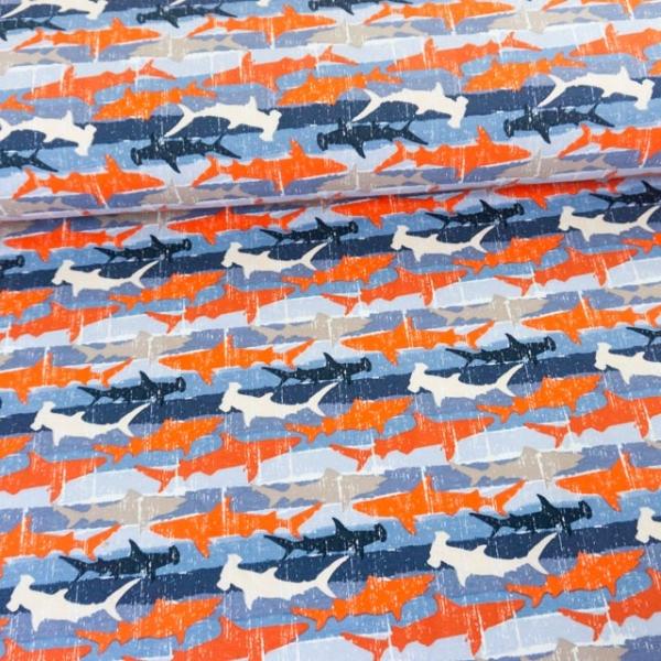Sweat French Terry Hai Stripes blau