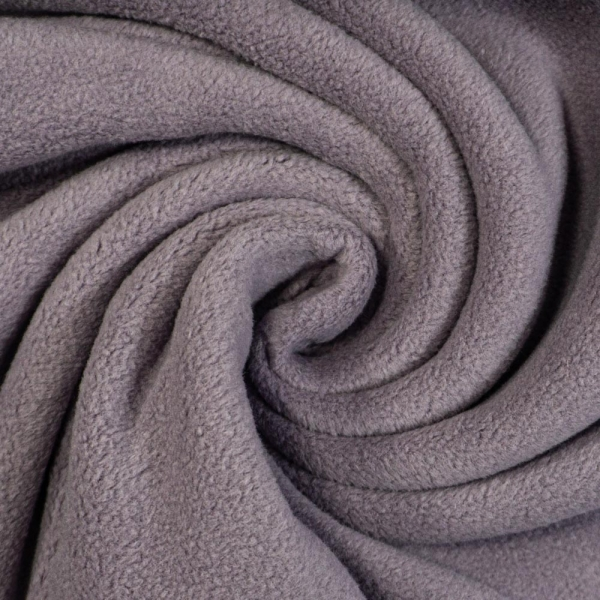 Baumwoll Fleece Doubleface rauchiges flieder