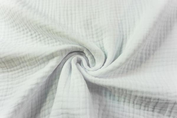 80 cm Stück Musselin SCHWER Triple Gauze Uni weiß