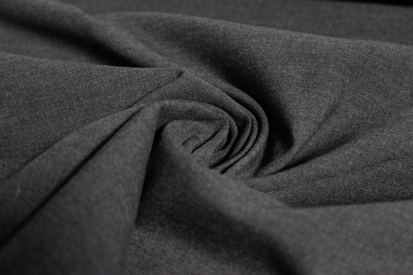 Hosenstoff elastisch Emporio Uni dunkelgrau meliert Öko Tex 100