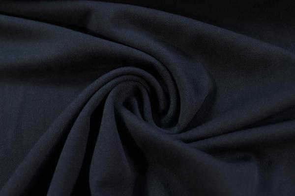Twill Hosenstoff bi-elastisch Wool Touch Uni navy Öko Tex 100