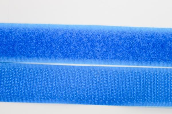 Klettverschluss Schlaufen und Widerhaken aqua 20mm
