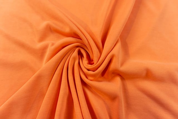 Modaljersey UNI orange Ökotex 100
