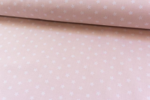 Baumwolle/Webware Stars rosa Ökotex 100