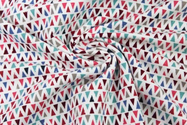 Sweat unangeraut Vintage Dreiecke weiß Ökotex 100