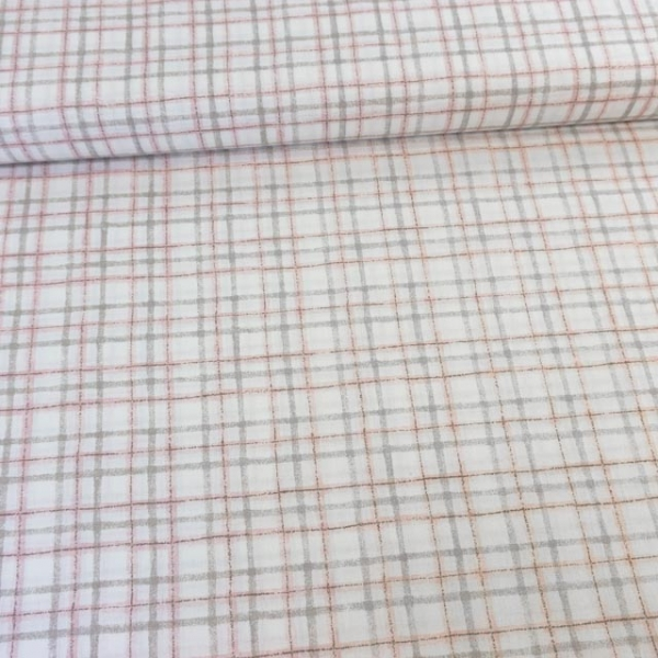 Baumwollwebware Italienische Kollektion Checks rosa Ökotex 100