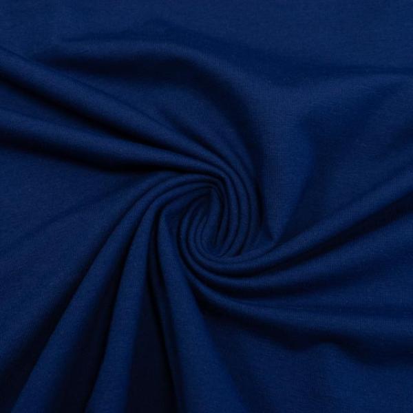 Baumwolljersey UNI marineblau
