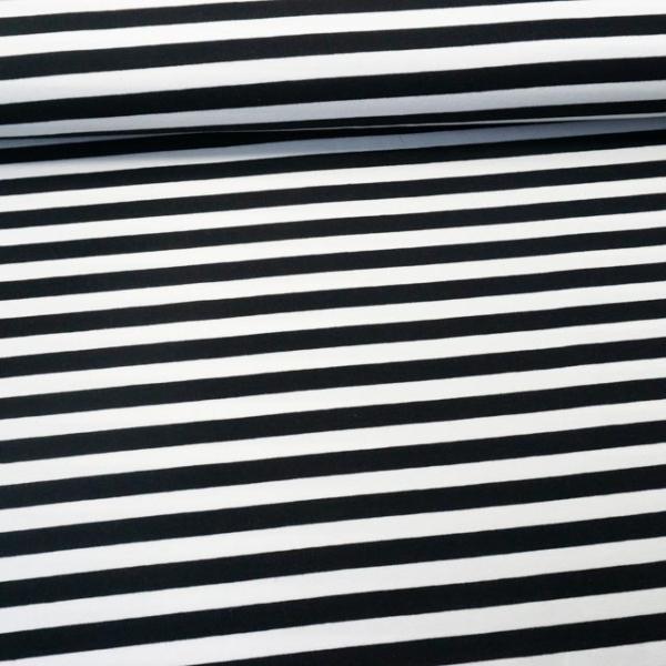 French Terry Stripes schwarz
