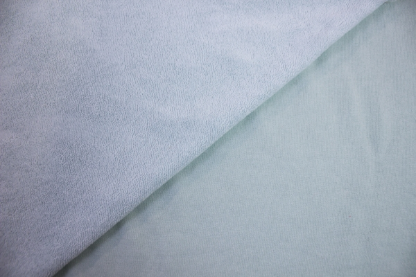 Baumwoll Frottee Sweat hellblau Ökotex 100