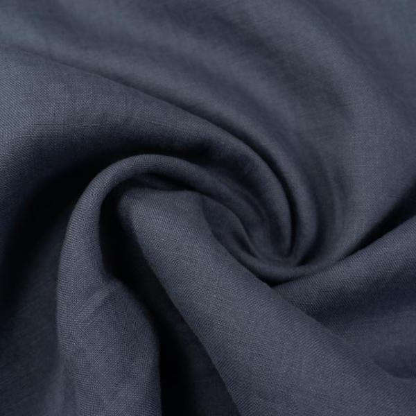 Premium Leinen Fein UNI jeansblau-dunkel