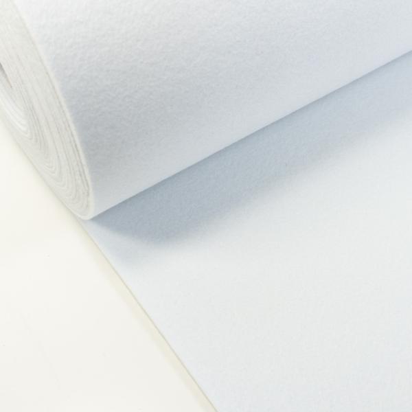 Filz 3mm Uni weiß