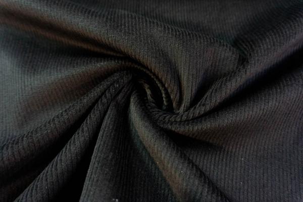 Feincord Stretch schwarz SCHWER 320gr/m² ÖkoTex 100