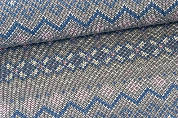 Sweat French Terry angeraut Winter Knit grau Ökotex 100