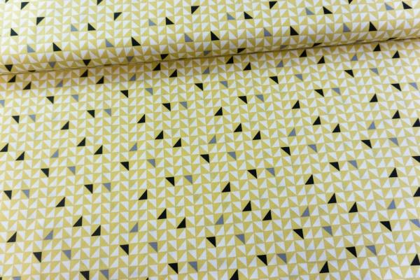 Baumwolle/Webware Pretty Triangles senf Ökotex 100