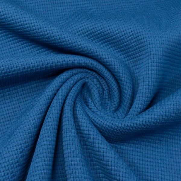 Waffelstrick Jersey Uni royalblau