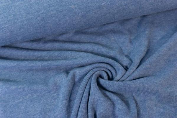Strick-Jersey Angorastyle jeansblau - super kuschelig Ökotex 100