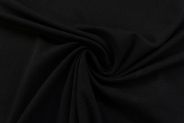 Baumwolljersey SCHWER UNI schwarz -hohe Sprungkraft- Ökotex 100