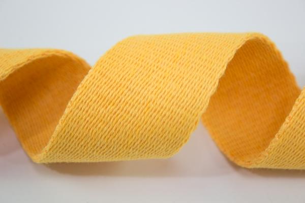 Gurtband 40mm gelb 100% Baumwolle Ökotex 100