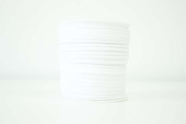 Jersey Paspelband weiß elastisch