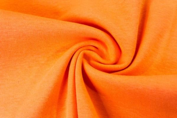 Feinstrick Bündchen Anna Uni orange Ökotex 100