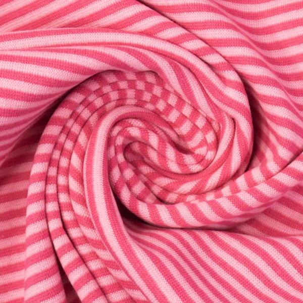Bündchen Feinstrick Ringel rosa-pink