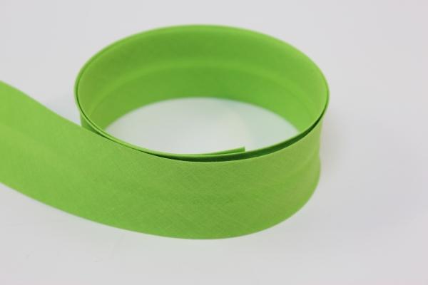 Schrägband 2cm oder 4cm breit vorgefalzt lime Ökotex 100