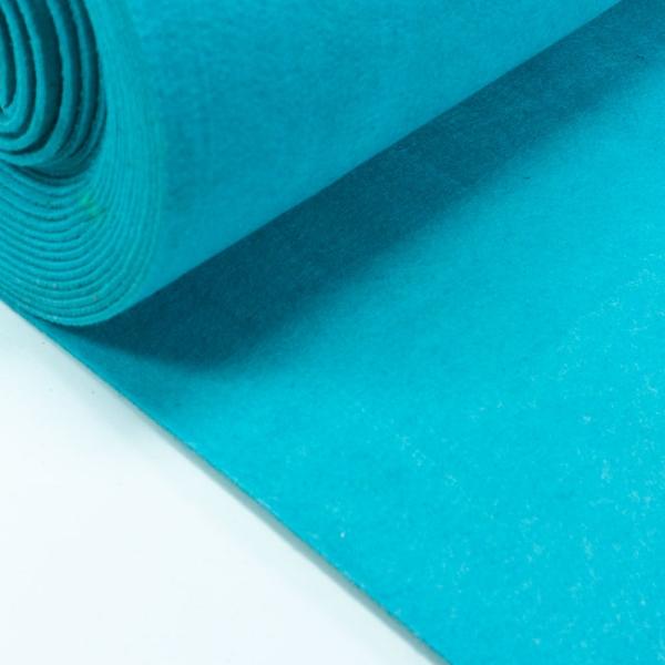 Filz 3mm Uni aqua