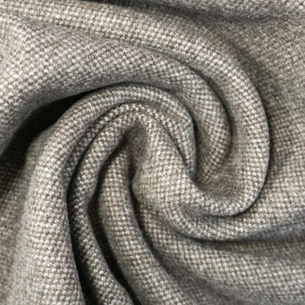 Jacquard Tweed Strick Schwer taupe meliert