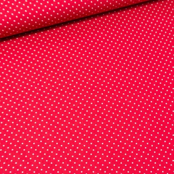 Baumwolle/Webware Petit Dots rot Ökotex 100