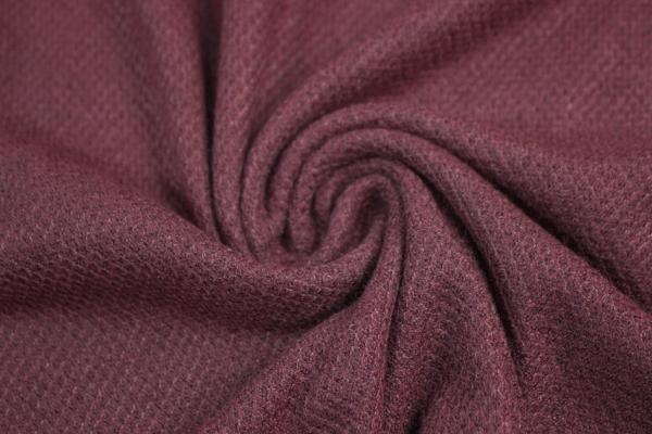 Polo Piqué Strick-Jersey dunkel bordeaux - Pashmina Style Ökotex 100