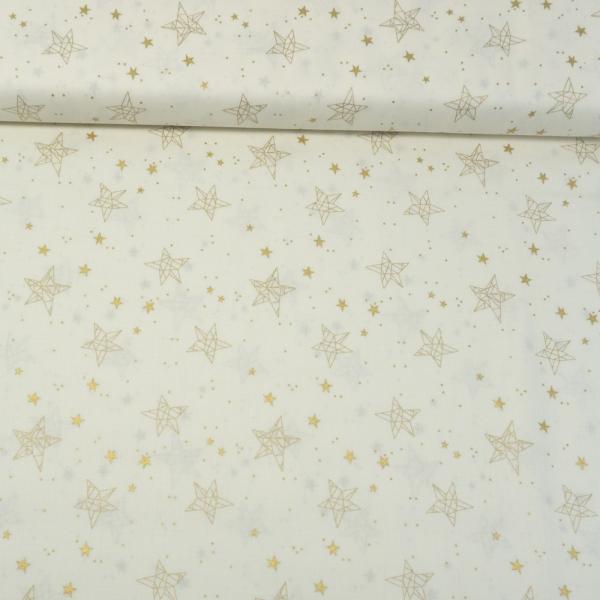 Baumwollwebware Christmas Star Sign ecru