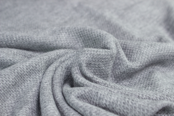 Polo Piqué Strick-Jersey grau meliert - Pashmina Style Ökotex 100