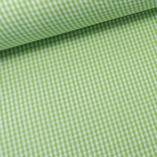 Baumwollwebware kleine Karos lime