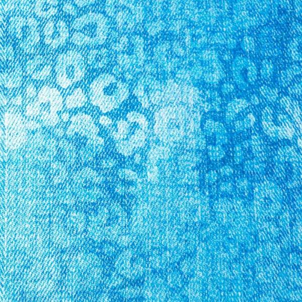 Bio-Baumwolljersey Leo Denimlook hellblau-weiß