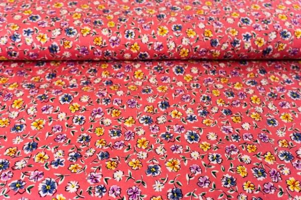 Baumwollwebware Schnittblumen aquarell flamingo Ökotex 100