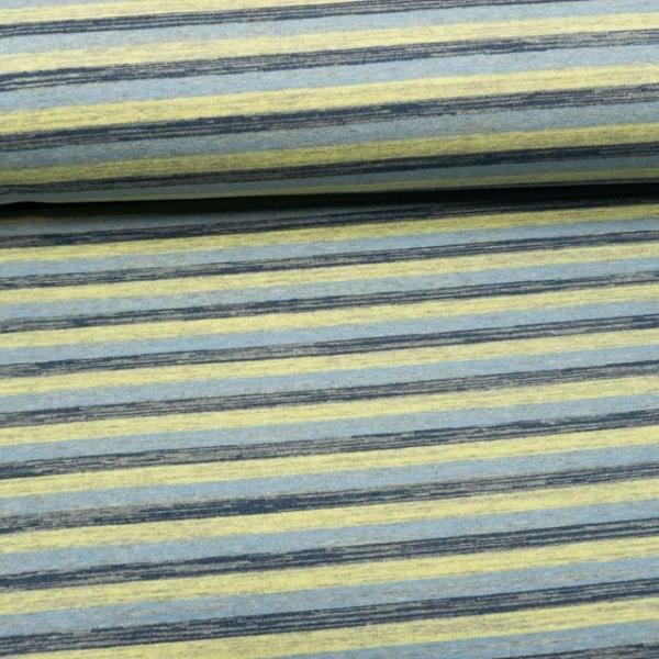 Sweat French Terry ANGERAUT Vintagestripes blau
