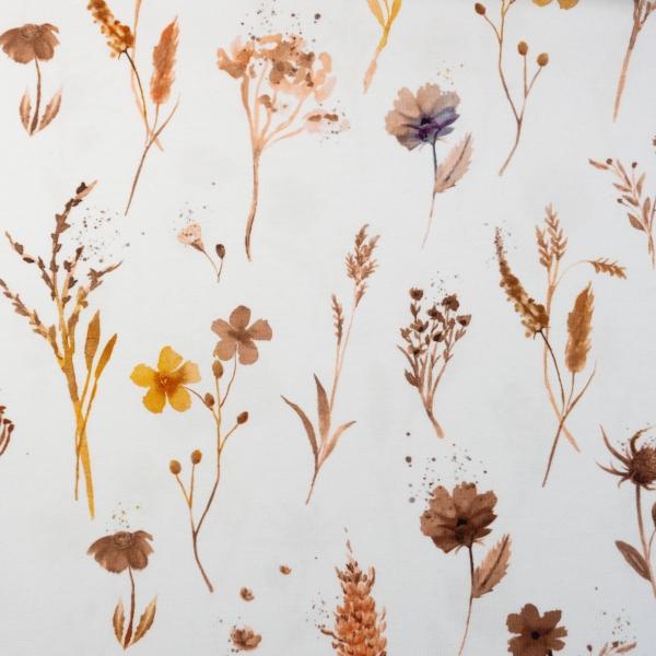 Bio-Baumwolljersey Wildflowers weiß