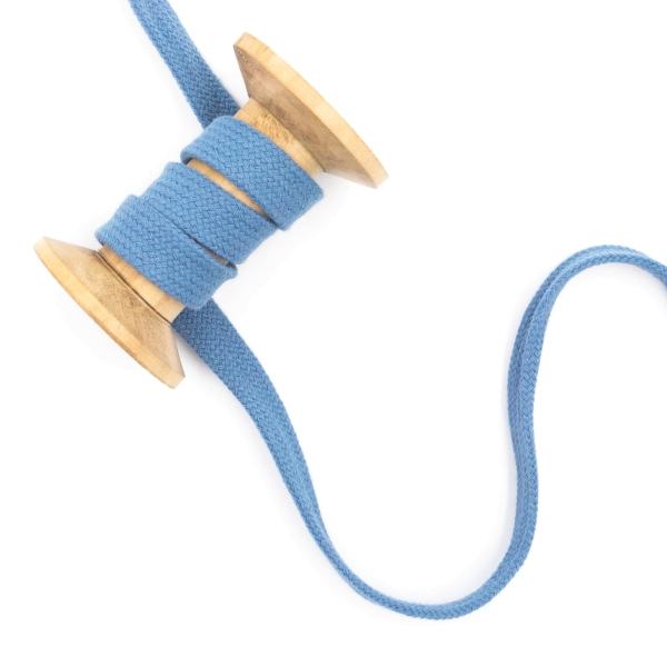 Flachkordel 15mm - Hoodie Kordel jeansblau