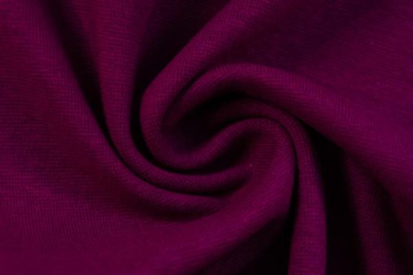Bündchen Feinstrick Uni dark berry -hohe Sprungkraft- Ökotex 100
