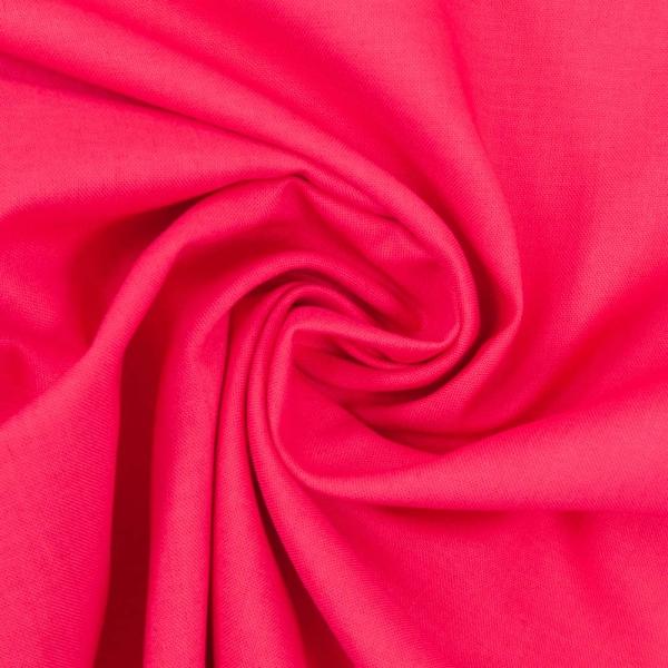 Baumwollwebware Fahnentuch Uni pink