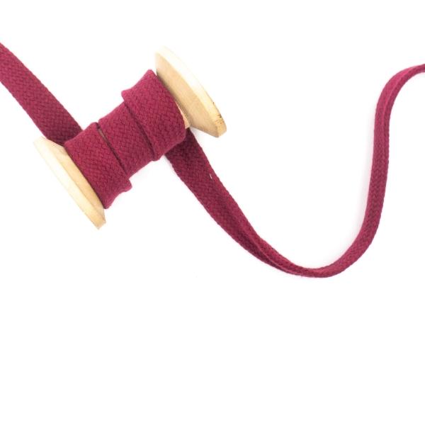 Flachkordel 20mm - Hoodie Kordel bordeaux