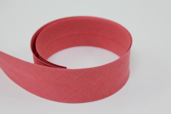 Schrägband 2cm oder 4cm breit vorgefalzt flamingo dunkel Ökotex 100