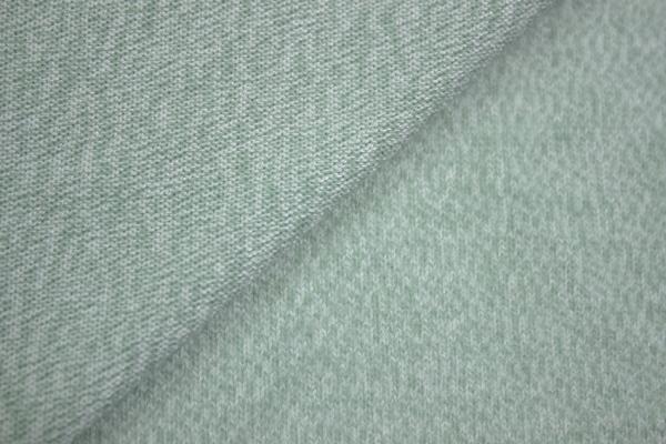 Strick-Jersey Cashmere-Style Mint meliert angeraut kuschelig weich Ökotex