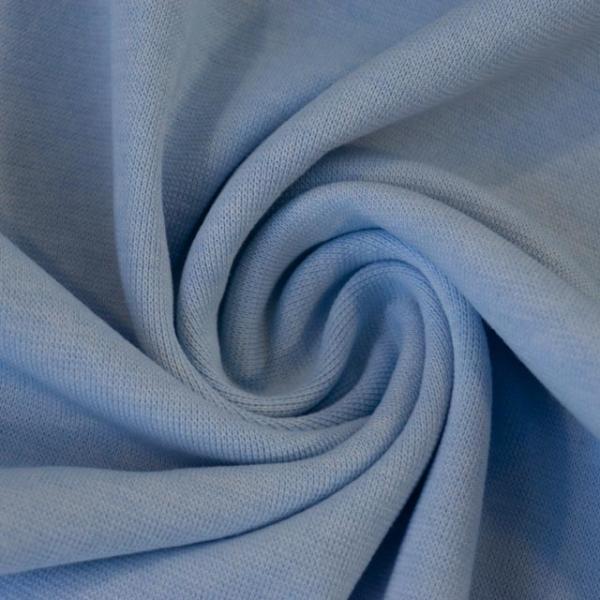 Bündchen Feinstrick Meliert hellblau -hohe Sprungkraft- Ökotex 100