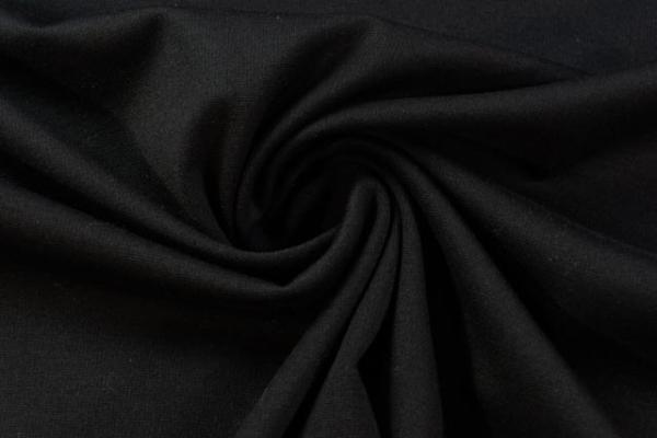 Schwerer Romanit-Jersey Punta-Jersey schwarz Ökotex 100