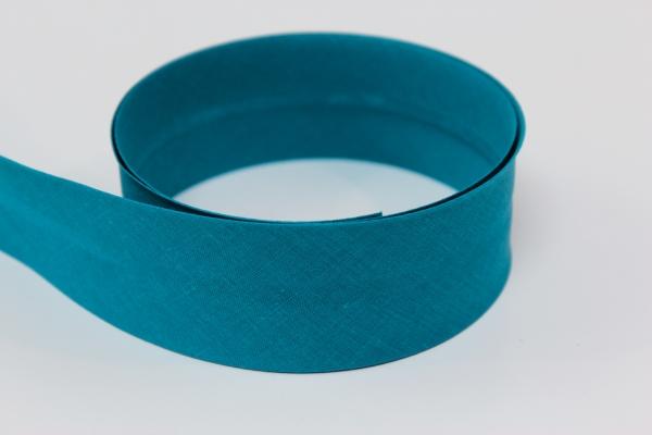 Schrägband 2cm oder 4cm breit vorgefalzt petrol Ökotex 100